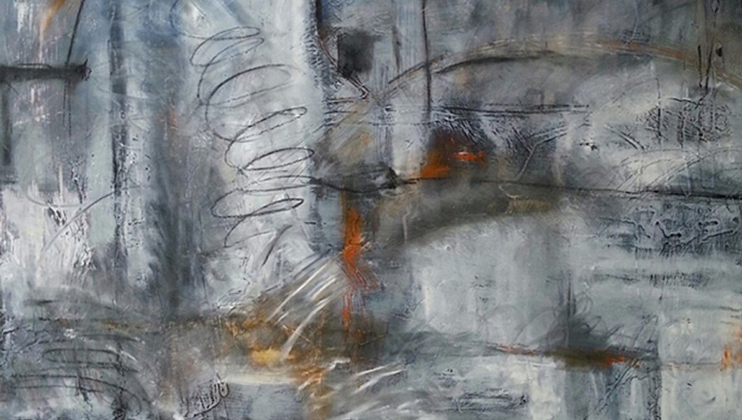 Maud Simmons abstract painting